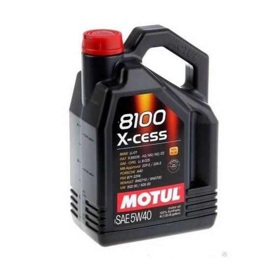 MOTUL 8100 X-cess 5W-40, 4 л.