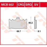 TRW/LUCAS MCB602SV - накладки тормозные