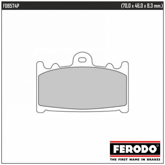 FERODO FDB574P - накладки тормозные
