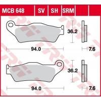 TRW/LUCAS MCB648 - накладки тормозные