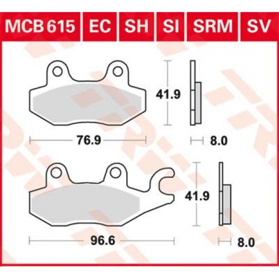 TRW/LUCAS MCB615 - накладки тормозные