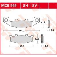 TRW/LUCAS MCB569 - накладки тормозные