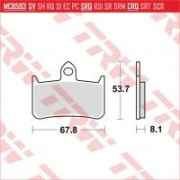 TRW/LUCAS MCB593 - накладки тормозные