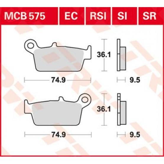TRW/LUCAS MCB575 - накладки тормозные