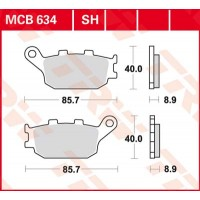 TRW/LUCAS MCB634SH - накладки тормозные