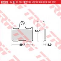 TRW/LUCAS MCB691 - накладки тормозные