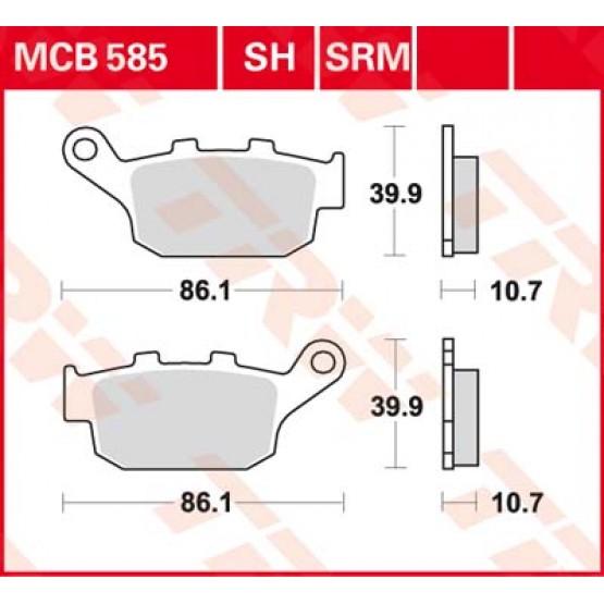 TRW/LUCAS MCB585 - Накладки тормозные