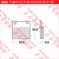 TRW/LUCAS MCB531 - накладки тормозные