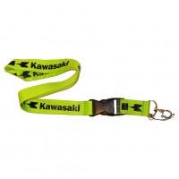 Шнурок для ключей KAWASAKI, текстиль, зел./черн.