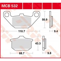 TRW/LUCAS MCB532 - накладки тормозные
