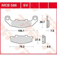 TRW/LUCAS MCB586 - накладки тормозные