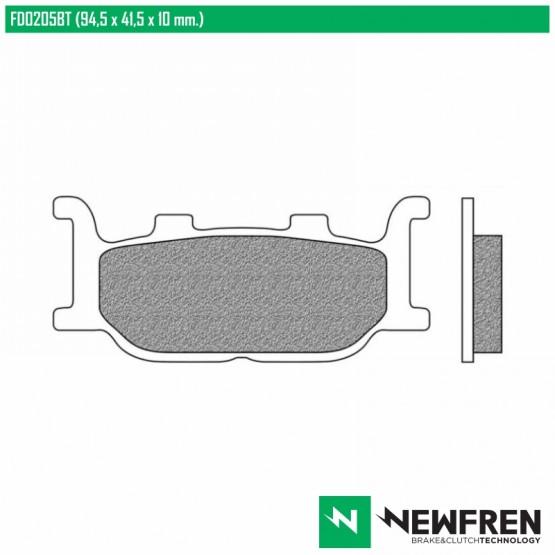 NEWFREN FD0205BT - накладки тормозные