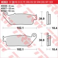 TRW/LUCAS MCB631 - накладки тормозные