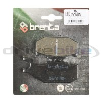 SAITO тормозные накладки 10044377 (MCB611, MCB611SV)