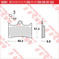 TRW/LUCAS MCB611SV - накладки тормозные