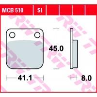 TRW/LUCAS MCB510 - накладки тормозные