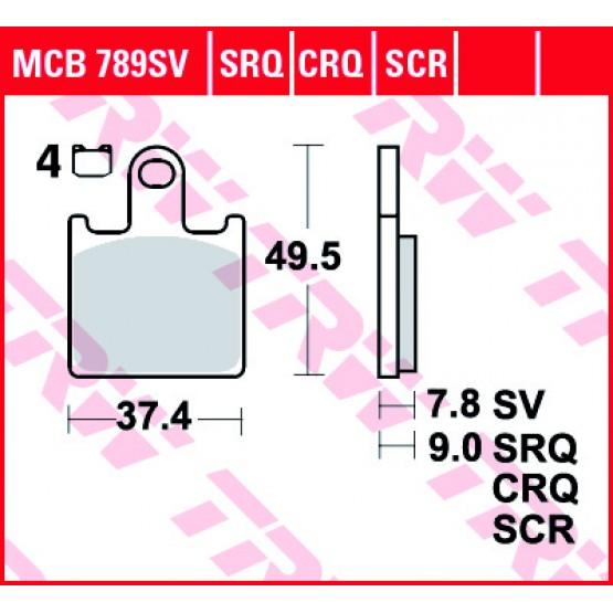 TRW/LUCAS MCB789SV - накладки тормозные