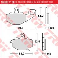 TRW/LUCAS MCB662 - накладки тормозные