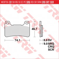 TRW/LUCAS MCB755SV - накладки тормозные