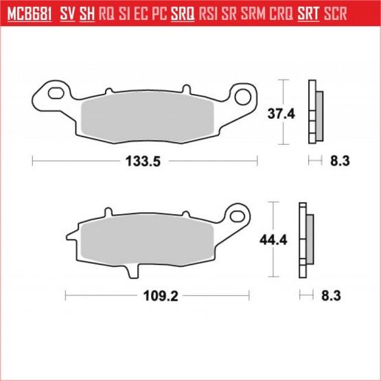 TRW/LUCAS MCB681 - накладки тормозные
