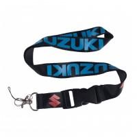 Шнурок для ключей SUZUKI, текстиль, черн./син.