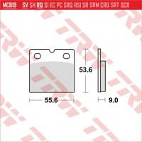 TRW/LUCAS MCB19 - накладки тормозные