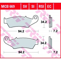 TRW/LUCAS MCB669SI - накладки тормозные