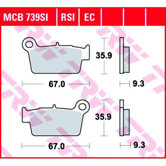 TRW/LUCAS MCB739SI - накладки тормозные