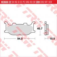 TRW/LUCAS MCB666 - накладки тормозные