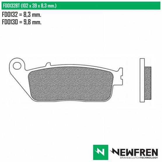 NEWFREN FD0132BT - Накладки тормозные