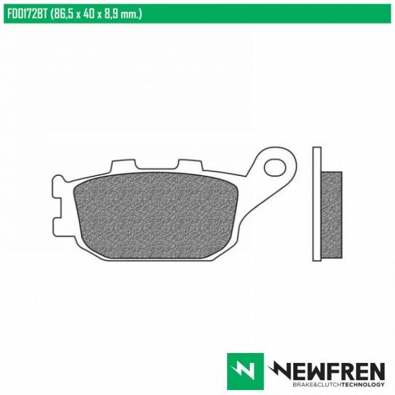 NEWFREN FD0172BT - накладки тормозные