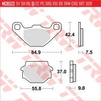 TRW/LUCAS MCB523 - накладки тормозные