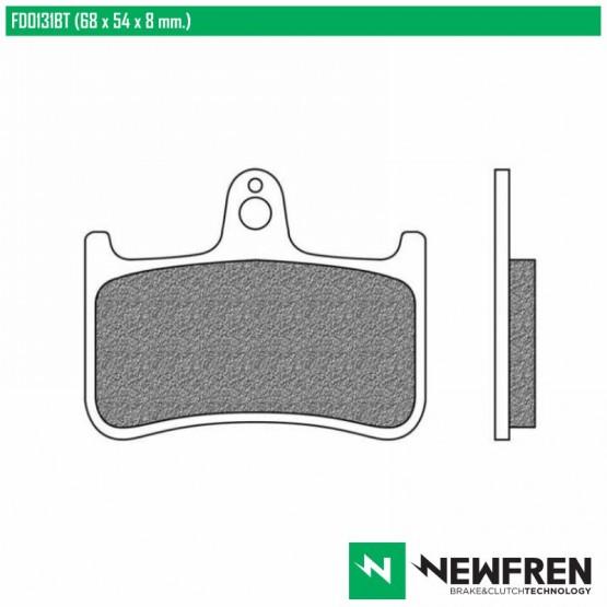 NEWFREN FD0131BT - накладки тормозные