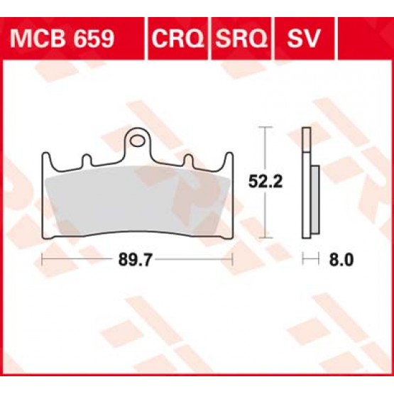 TRW/LUCAS MCB659 - накладки тормозные