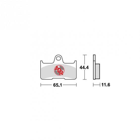 ADR 660411 - накладки тормозные