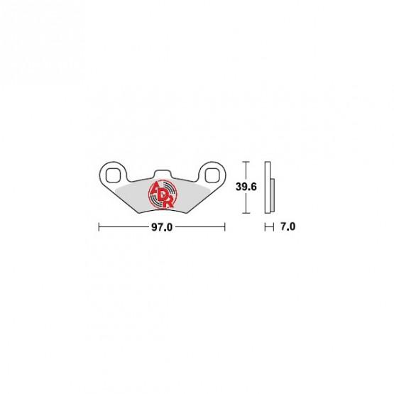 ADR 660111 - накладки тормозные