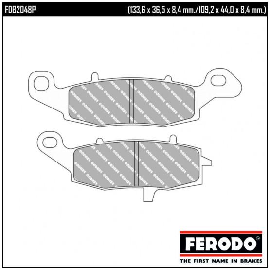 FERODO FDB2048P - Накладки тормозные