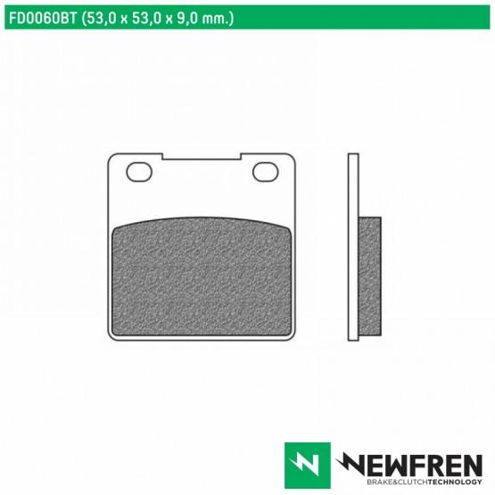 NEWFREN FD0060BT - Накладки тормозные
