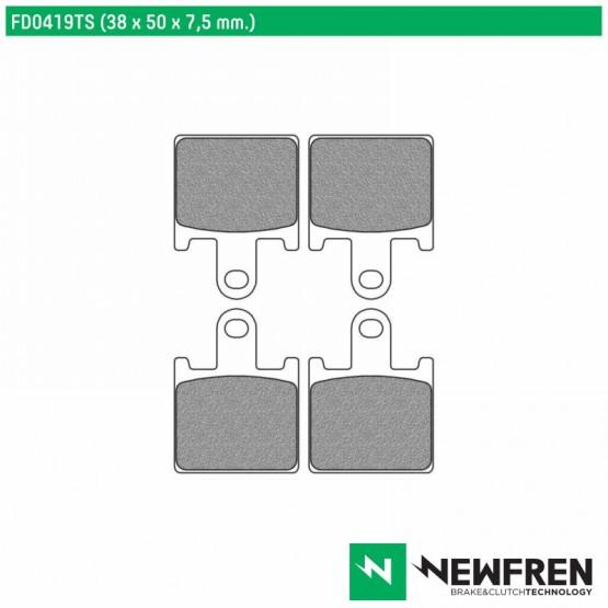 NEWFREN FD0419TS - накладки тормозные