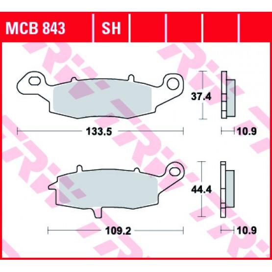 TRW/LUCAS MCB843SH - накладки тормозные