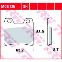TRW/LUCAS MCB725 - накладки тормозные