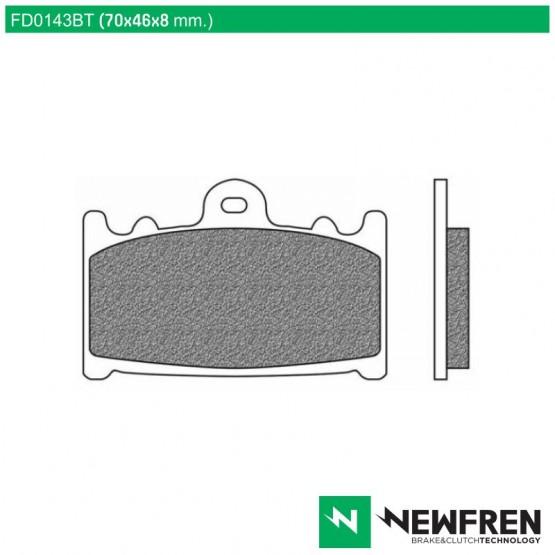 NEWFREN FD0143BT - накладки тормозные