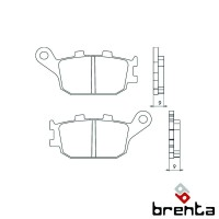 BRENTA FT3072 - накладки тормозные