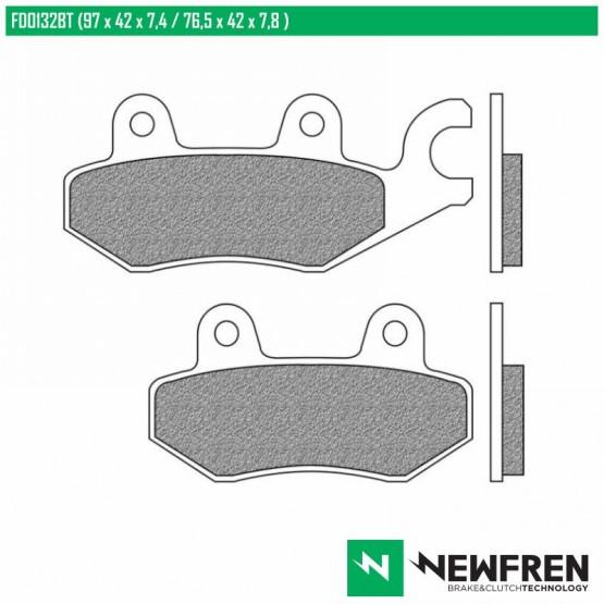 NEWFREN FD0163BT - накладки тормозные