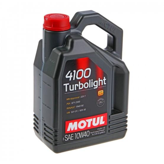 MOTUL 4100 Turbolight 10W-40, 4 л.