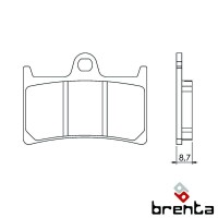 BRENTA FT4094 - накладки тормозные