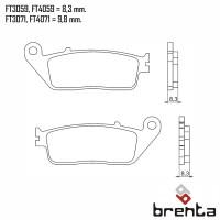 BRENTA FT3059 - накладки тормозные