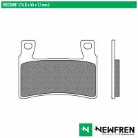 NEWFREN FD0258BT - накладки тормозные