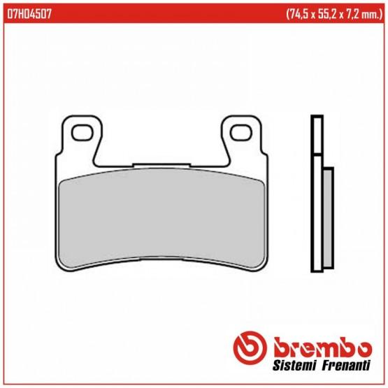 BREMBO 07HO4507 - накладки тормозные