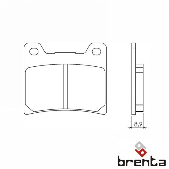 BRENTA FT3053 - накладки тормозные